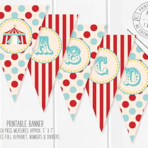 Printable Traditional Circus/Carnival Banner