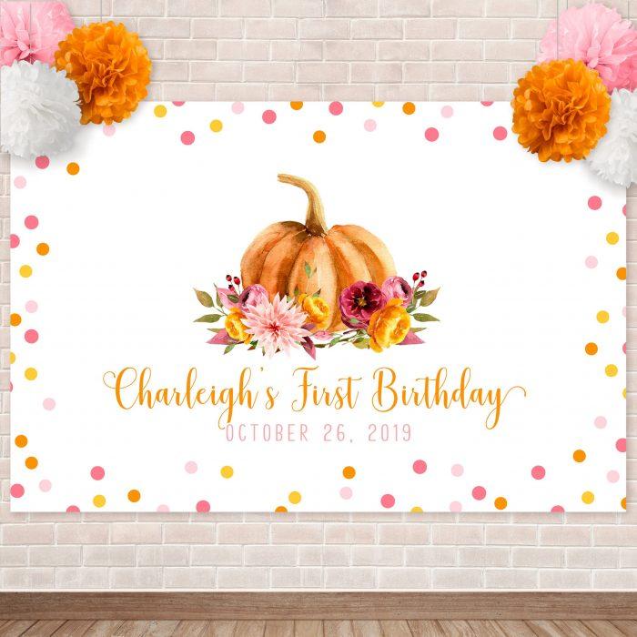 Printable Little Pumpkin Backdrop