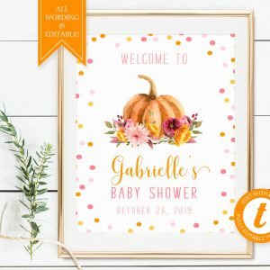 Printable Little Pumpkin Welcome Sign
