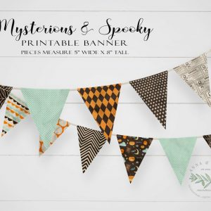 Printable Mysterious & Spooky Pennant Banner