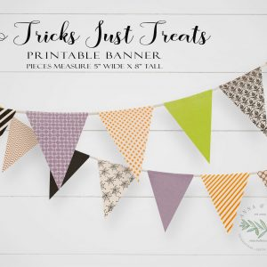 Printable No Tricks Pennant Banner