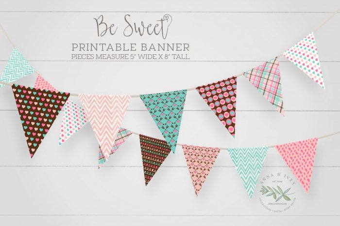 Printable Be Sweet Valentine Banner