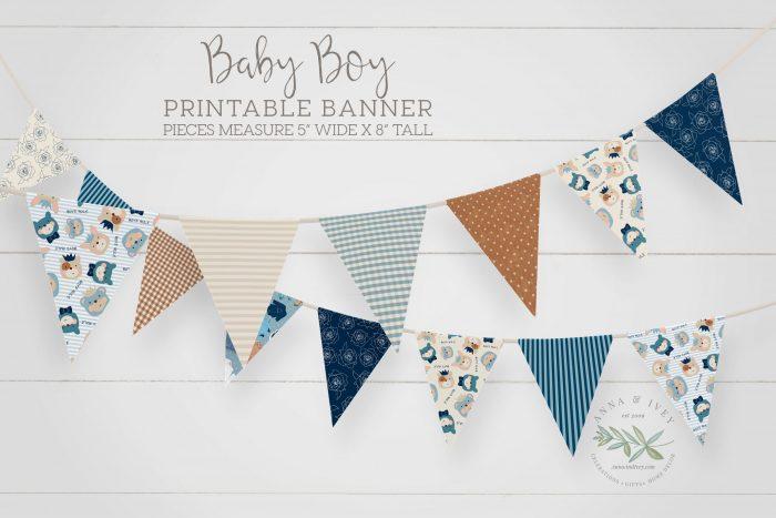 Printable Baby Boy Banner