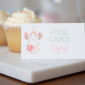 Printable Baby Shower Buffet/Place Cards- Floral Onesie
