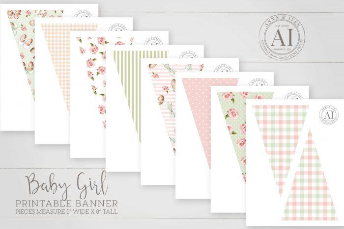 Printable Baby Girl Banner