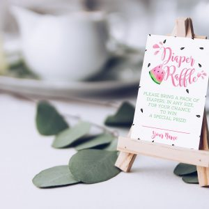 Printable Watermelon Diaper Raffle Cards