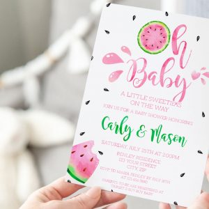 Printable Watermelon Baby Shower Invitation