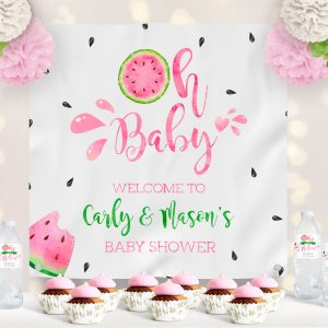 Vinyl Watermelon Baby Shower Backdrop
