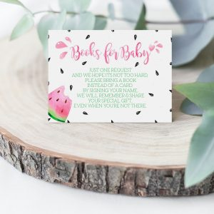 Printable Watermelon Books for Baby Card