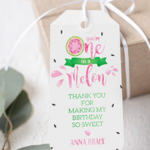 Printable Watermelon One in a Melon Tags