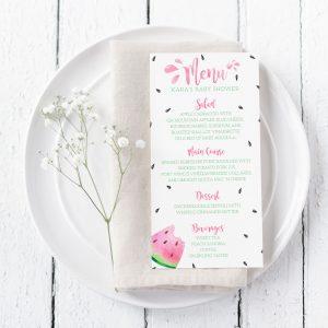Printable Watermelon Menu Cards
