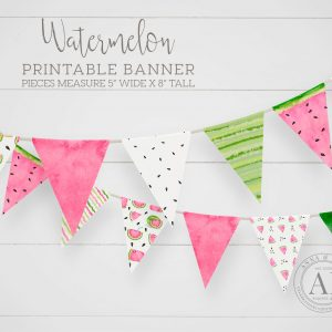 Printable Watermelon Banner