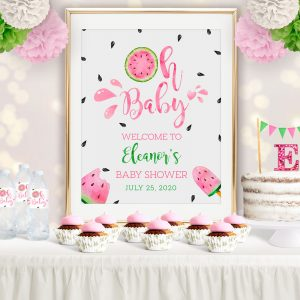 Printable Watermelon Baby Shower Poster