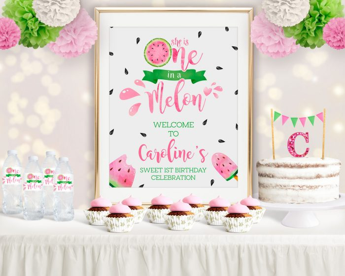 Printable Watermelon One in a Melon Poster