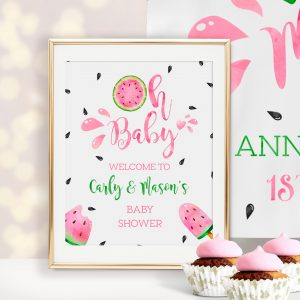 Printable Watermelon Baby Shower Sign