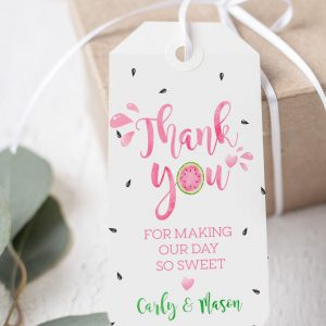 Printable Watermelon Thank You Tags